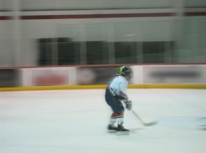 First time playing hockey