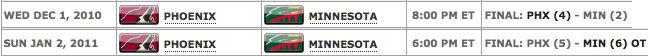 NHL Schedule
