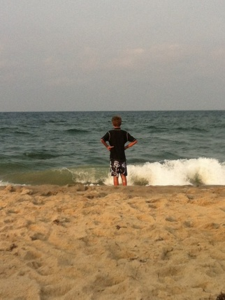 Ryan contemplates the sea