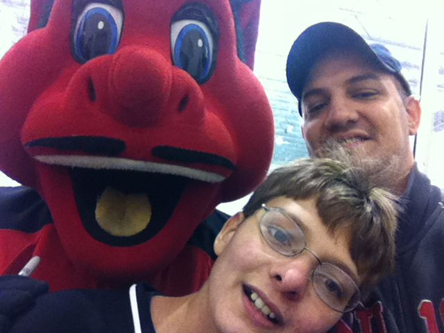 Ryan, Dad and N.J. Devil
