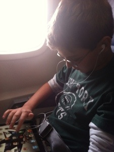 Ryan on the plane
