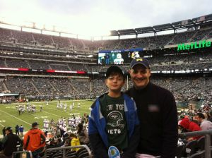 Ryan and Dad inside the game