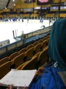 Ryan watching hockey
