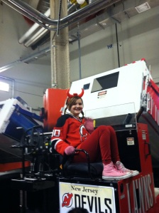 Riley on the Zamboni