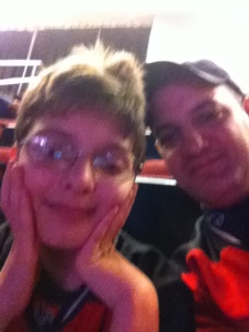 Ryan and me, at the Devils game
