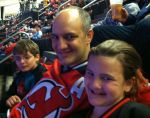 family shot at the Devils game