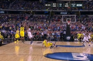Trey Burke hits the shot