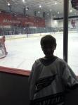 at Caps practice