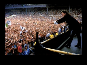 "Bono singing ""Bad"" at Live Aid"