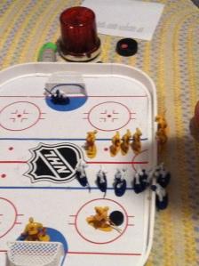 Hockey guys line change
