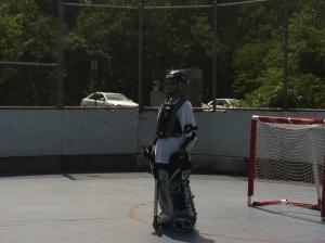 Ryan in goal