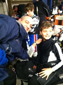 With Ryan at the Winter Classic