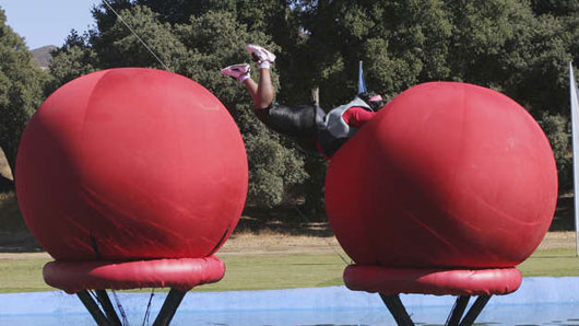Wiping out on the Big Red Balls
