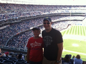 With Ryan at Yankee Stadium