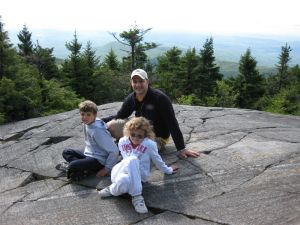 Ryan and Riley and Dad in the moutains