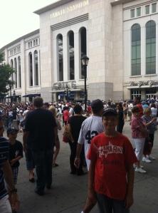 Ryan outside Yankee Stadium