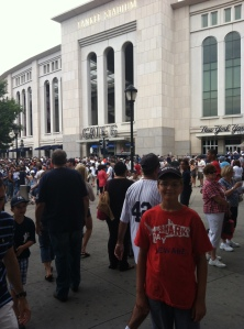 Ryan outside Yankee Stadium