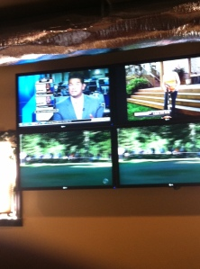 Sports bar TVs