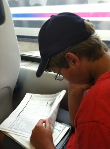 Ryan studying the standings