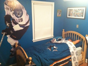 Ryan's new Sharks comforter