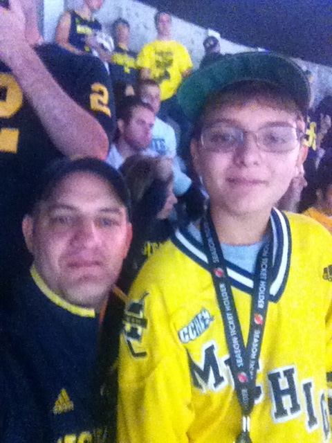 With Ryan at the game