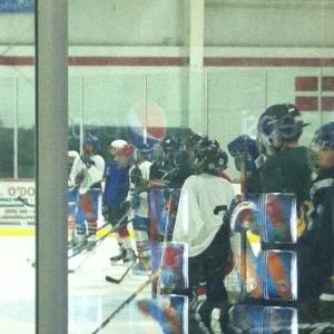 Ryan at hockey practice