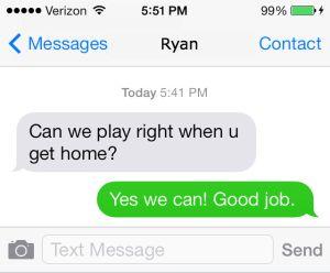 Ryan's text