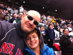 Ryan and Dad at Saints-Jets game.
