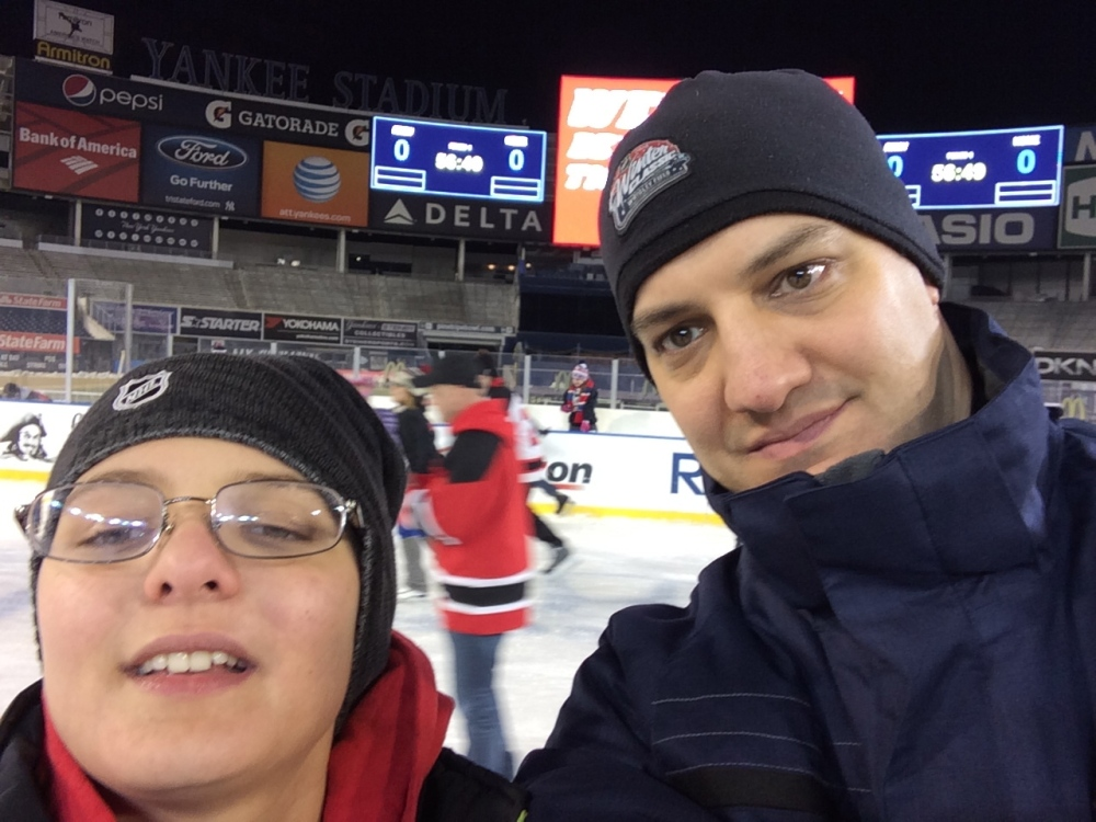 Skating with Ryan at Yankee Stadium