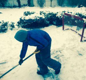Ryan shoveling