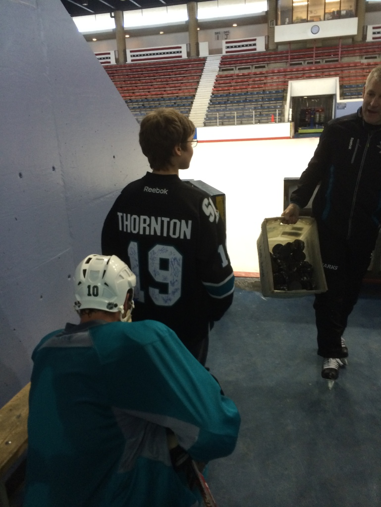 Ryan get his jersey signed