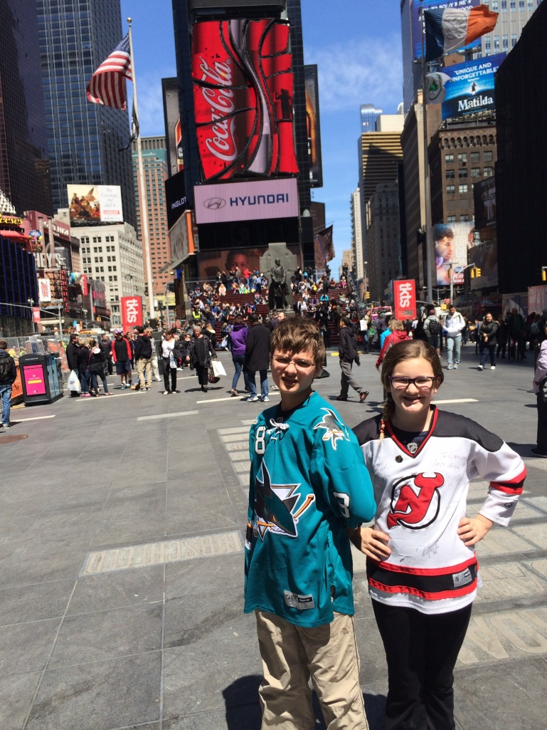 Ryan and Riley in Times Square
