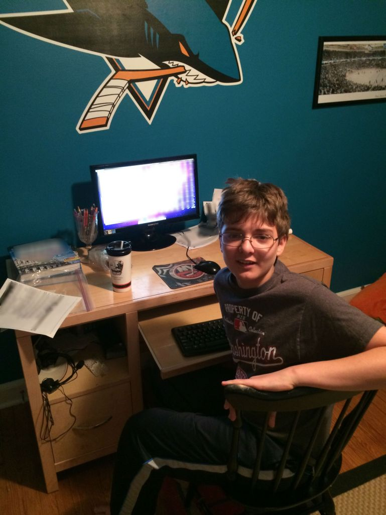 Ryan at his computer
