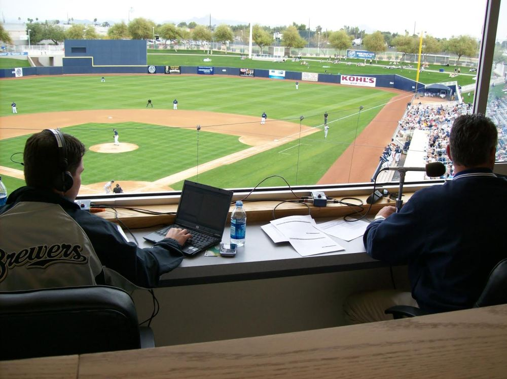Baseball broadcast booth