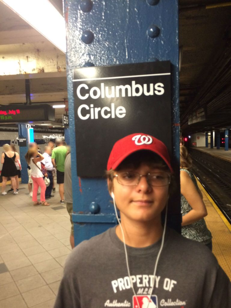 Ryan on the subway