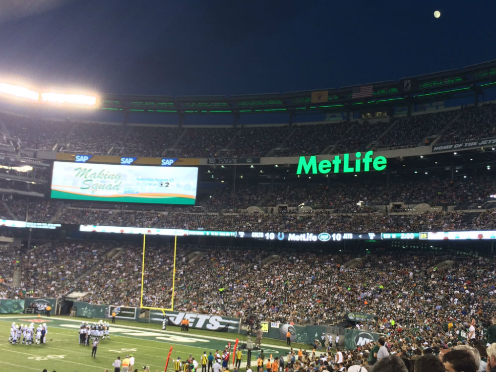 super moon over MetLife Stadium