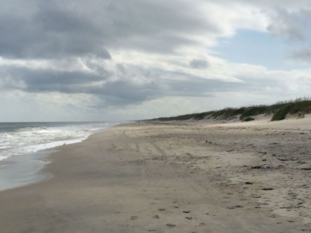 Endless beach on Ocracoke