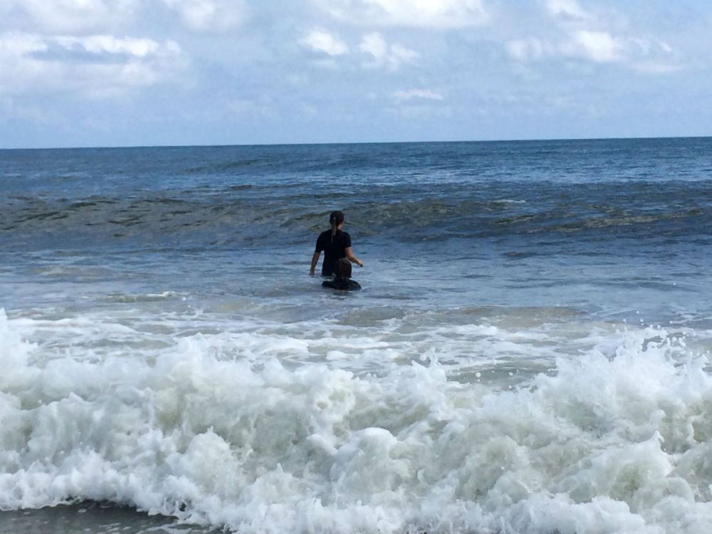Body surfing on Ocracoke