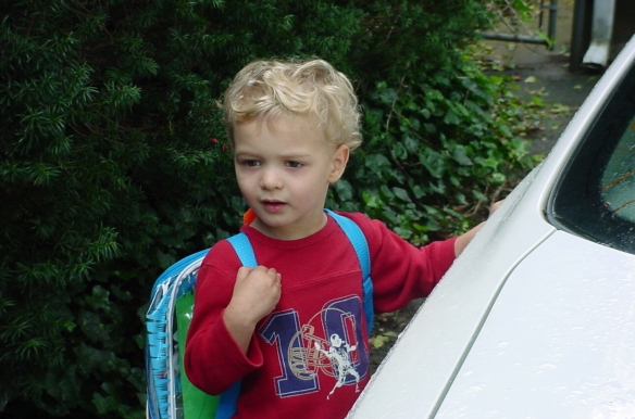 Ryan's first first day of school
