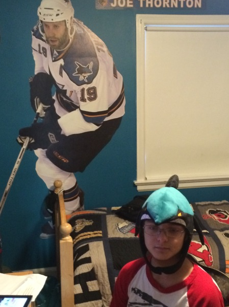Ryan in his Sharks hat