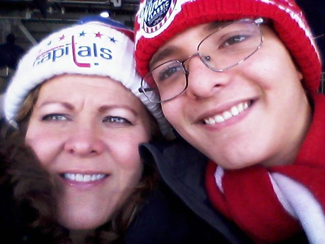 Veronica and Ryan at the NHL Winter Classic