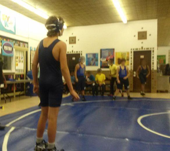Ryan wrestling
