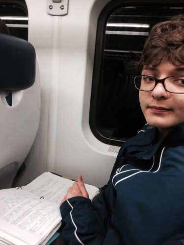 Ryan on the train
