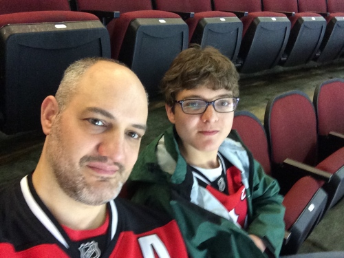 With Ryan at the Devils game