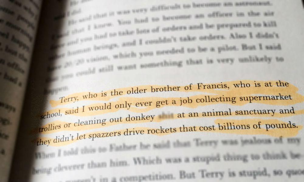 highlighted passage